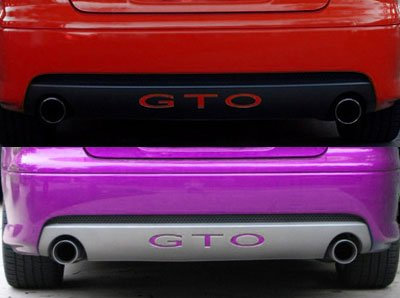 System Skins 2004-06 Pontiac GTO Rear Bumper Valence Vinyl Inserts Decals Letters - 38 Colors to Choose from (Color :: Chrome Mirror Red) - Vinyl Bumper Insert Letters