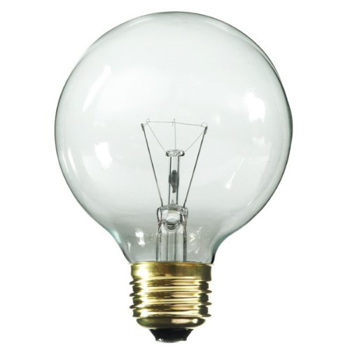 120v G30 Medium Screw - Satco S3651 120V Medium Base 25-Watt G30 Light Bulb, Clear