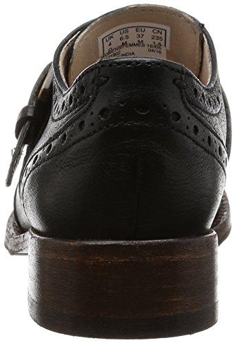 Monaco pelle Scarpe Donna Tomina nero Oxford Clarks in mia Heel Stacked colore wnIzaFXxqF