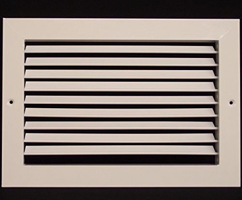 14''w X 10''h Aluminum Adjustable Return/Suuply HVAC Air Grille - Full Control Horizontal Airflow Direction - Vent Duct Cover - Single Deflection [Outer Dimensions: 15.85''w X 11.85''h] by HVAC Premium (Image #1)