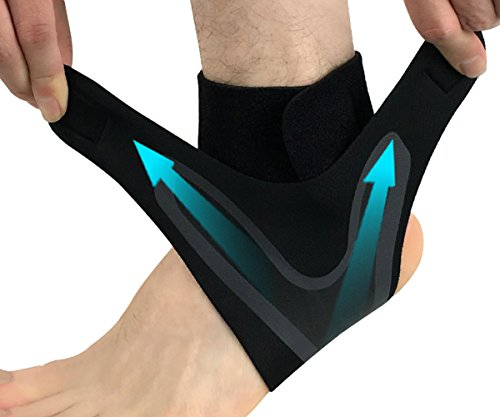Composite Neoprene Football - AiLike Adjustable Ankle Support Breathable Foot Sleeve Ankle Brace for Sports (XL for 11-13.5 Shoe Size)