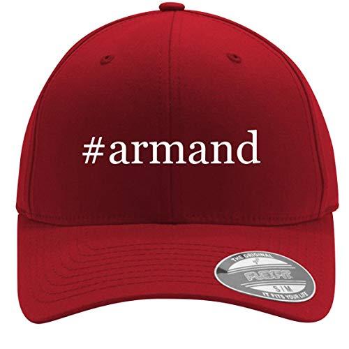 #Armand - Adult Men's Hashtag Flexfit Baseball Hat Cap, Red, Large/X-Large