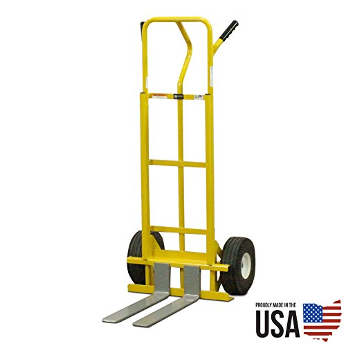American Cart & Equipment Hand Truck with Adjustable Forks, 600-Pound Capacity 600 Lb Capacity Hand Truck