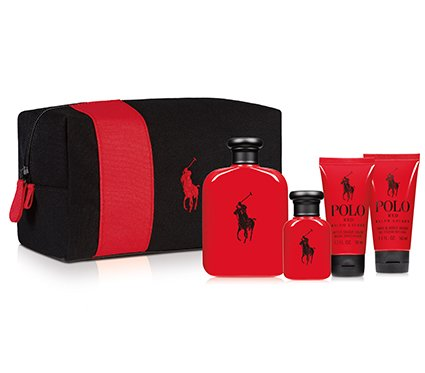 Polo Red For Men By Ralph Lauren Gift Set