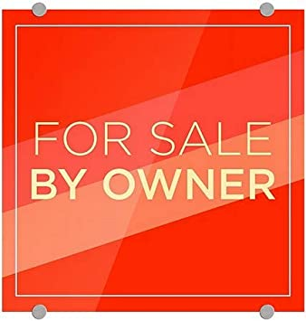 for Sale by Owner CGSignLab 5-Pack Modern Diagonal Premium Acrylic Sign 16x16