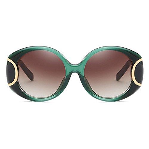 Air Sports Yefree Ovale Soleil Lunettes Vert Foncé de de UV400 Vintage Femmes Hommes Lunettes Plein Lunettes wS8TwgPHq