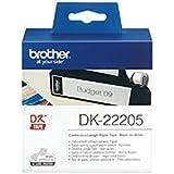 Brother DK22205 Rouleau papier étiquette 62 mm x 30,48 m Blanc
