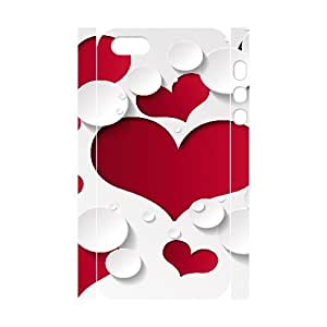 3D Vety Heart Shape Pattern Ilike IPhone 5,5S Cases, {White}