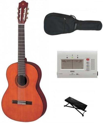 Pack Guitarra clásica Yamaha 1/2 (+ descansa pie, afinador y funda ...