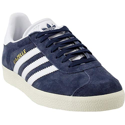 Gazelle Womens in Blue/White by Adidas, 5 (Adidas Women Shoes Gazelle)