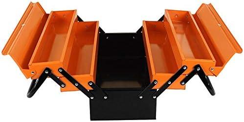 ChenCheng ツール収納ボックス-19インチ三層金属ツールボックス電気技師修理ツール収納ボックスファミリーダブルオープンパーツボックス ツールボックスストレージと組織 (Size : 450mmX200mmX200mm)