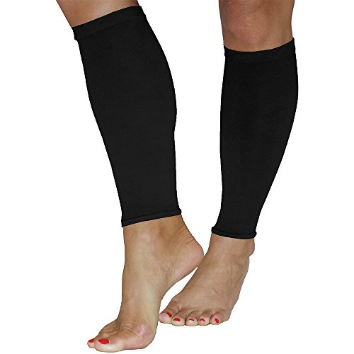 A.M.P.S Women's Calf 20-30 Mmhg Compression Sleeve Large Black (Mmhg Sleeve)