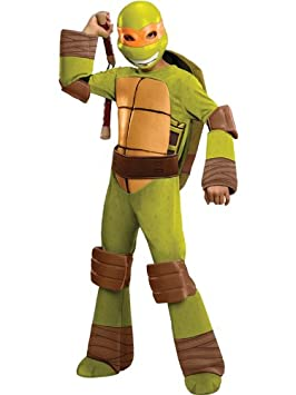 Child Deluxe Licensed TM Ninja Turtle TMNT Costume: Amazon ...