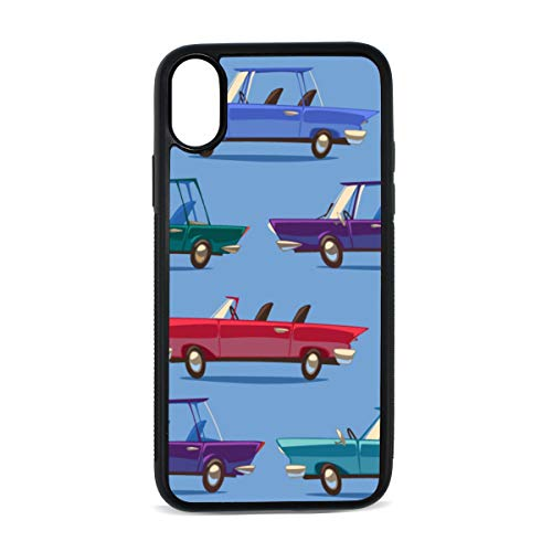 Case for iPhone Vintage Car Retro Modern Traffic England Digital Print TPU Pc Pearl Plate Cover Phone Hard Case Cell Phone Accessories Compatible with Protective Apple Iphonex/xs Case 5.8 Inch
