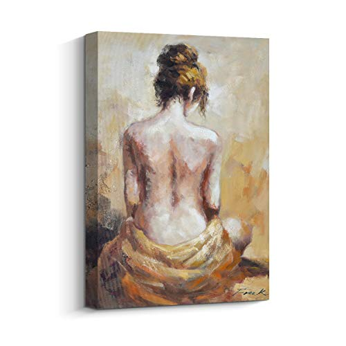 Pigort Sexy Wall Art Nude Woman Back Painting Hand Painted on Canvas Print Contemporary/Modern Wall ()