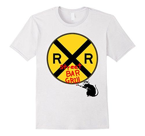 Railroad Street Sign (Railroad Street bar and Grill street art T-shirt)