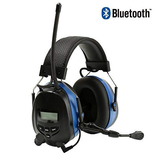 Noise Reduction Wireless Earmuffs with Bluetooth AM FM Digital Radio and Microphone,NRR 25dB Professional Ear Hearing Protection Headphones,Electronic Ear Defenders for Working Mowing Construction by PROTEAR (Image #7)