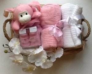Deluxe Newborn Baby Girl Hamper - free Gift Wrapping & free ...