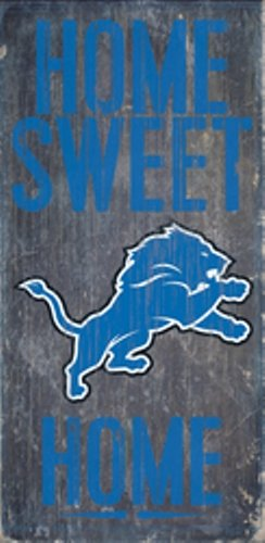 Fan Creations Detroit Lions Home Sweet Home Wood Sign 12