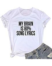 LOOKFACE Women Cute T Shirt Junior Tops Teen Girls Graphic Tees