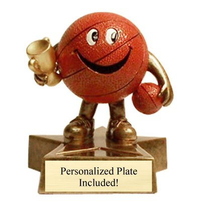 Basketball Little Buddy Trophies with 3 lines of custom text - Madness Buddy