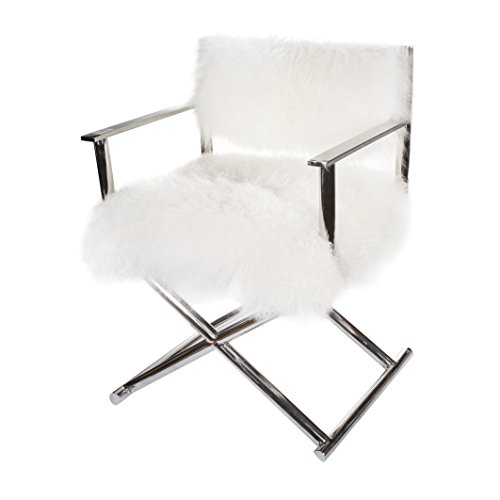 Kathy Ireland Upholstered Chair (A&B Home KIF39513 Mongolian Sheep Fur Director's Chair)