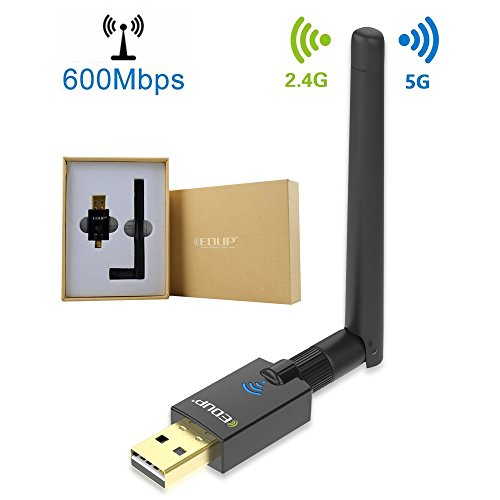 WiFi Adapter AC600 USB Wireless Adapter 2.4GHz/5GHz Dual Ban