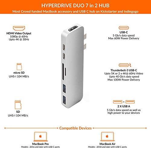 Hyperdrive - Adaptador multipuerto para MacBook Pro (7 en 2, USB ...