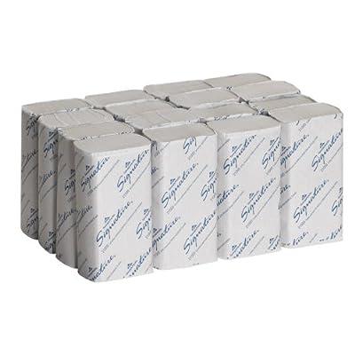 "Georgia-Pacific Signature 21000 White 2-Ply Premium Multifold Paper Towel, 9.4"" Length x 9.2"" Width"