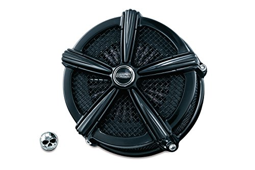 Kuryakyn Gloss Black Hi-Five Mach 2 Air Cleaner for Harley 2007-2016 XL883 ()
