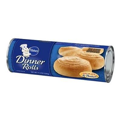 Pillsbury Unbaked Dinner Roll Dough, 11.3 Ounce -- 12 per case.
