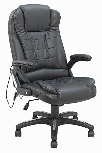 Bürosessel Chefsessel mit Massagefunktion Schwarz/Beige mit ...