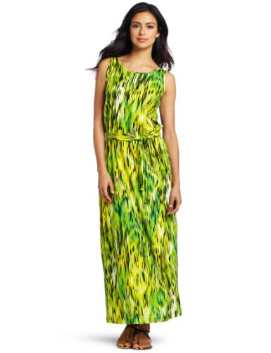 Jones New York Women's Printed Ikat Tank Dress