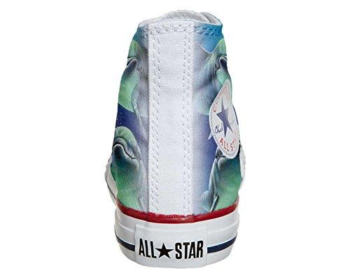 Converse All Star chaussures coutume mixte adulte (produit artisanal) 3 posant les dauphins