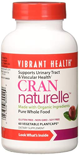 Vibrant Health - Cran-Naturelle, Supports Urinary Tract & Vascular Health, 60 Count