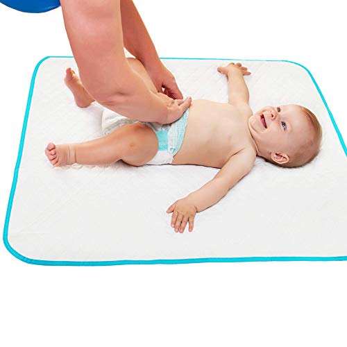 Portable Changing Pad with Free Storage Bag - Waterproof Reusable Changing Pad Extra Large Size 31.5