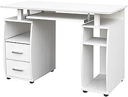 COMIFORT Mesa de Ordenador, Escritorio, Mesa de Oficina, 115x55x85 ...