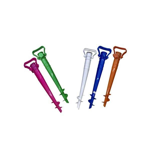 CLISPEED Picchetto per Ombrellone Regolabile per Ombrellone da Spiaggia Pesca Sole Giardino (Colore Casuale) 5 spesavip