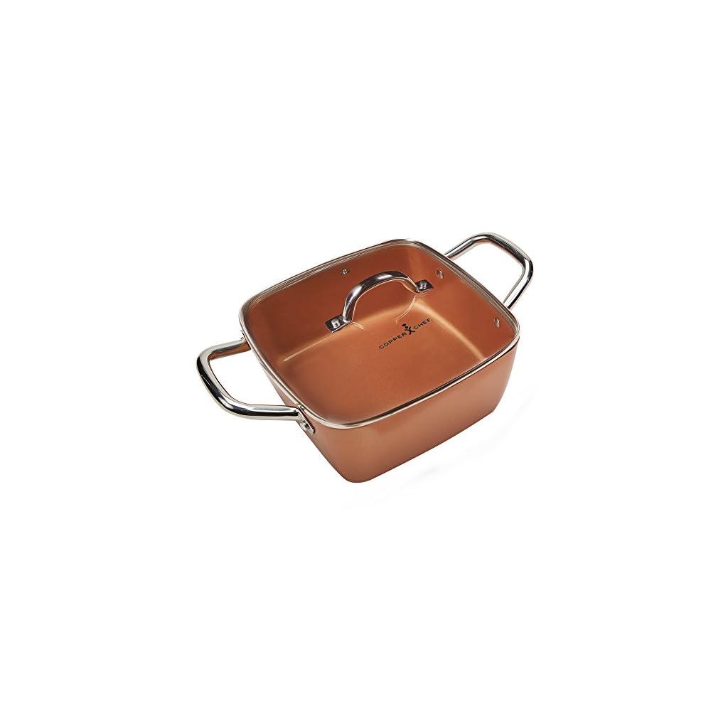 Copper Chef 11 Inch Casserole Pan Set 2 Piece Deep