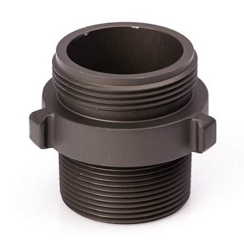 Aluminum 1 1//2 NH to 1 1//2 NPT Double Male Fire Hose Adapter