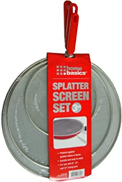 Home Basics Splatter Screen Set, 3 Pieces - 8