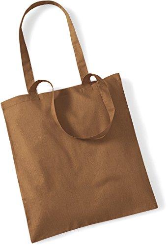 Stoffbeutel Baumwolltasche Beutel Shopper Umhängetasche viele Farbe caramel 8L4Ho