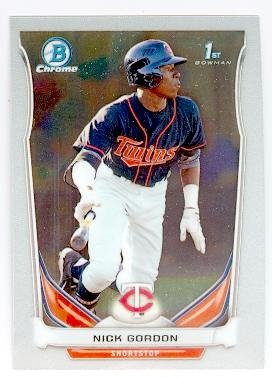 Nick Gordon baseball card (Minnesota Twins) 2014 Topps Bowman Chrome #CDP126 Rookie