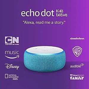 Best Epic Trends 41fVUCRB7JL._SS300_ Echo Dot (3rd Gen) Kids Edition, an Echo designed for kids with parental controls - Blue