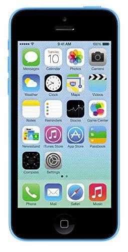 Apple iPhone 5C, GSM Unlocked, 32GB - Blue (Renewed)]()
