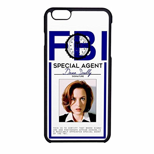 dana-scully-badge-iphone-6-6s-case-black-rubber
