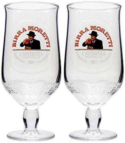 2 x Birra Moretti Half Pint Glass