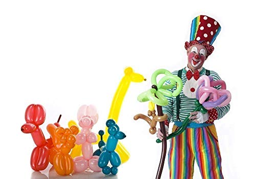 Koogel 400PCS 260Q Twisting Animal Balloons Assorted Color Thickening Latex Twisting Modeling Long Magic Balloons for Animal Shape Weddings, Birthdays Clowns, Xmas Presents