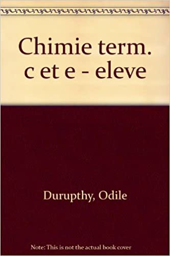 Télécharger en ligne CHIMIE TERMINALES C/E. Edition 1989 pdf ebook