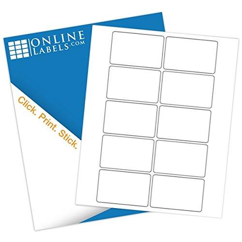 Online Labels - 3'' x 2'' Rectangle Labels - Pack of 1,000 Labels, 100 Sheets - Inkjet/Laser Printer by OnlineLabels
